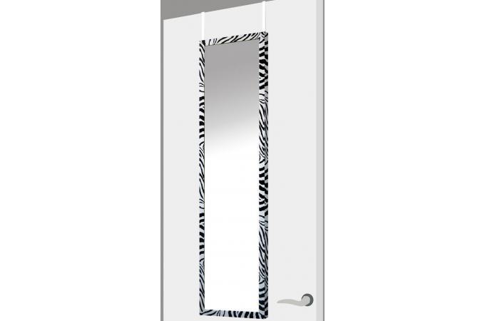 Miroir porte zebra noir plastique 37 x 2 x 128 cm - Miroir de porte pas cher ...