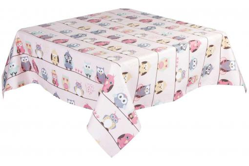 Nappe Carré Rose 100% Coton 145 X 145 CM GIRL
