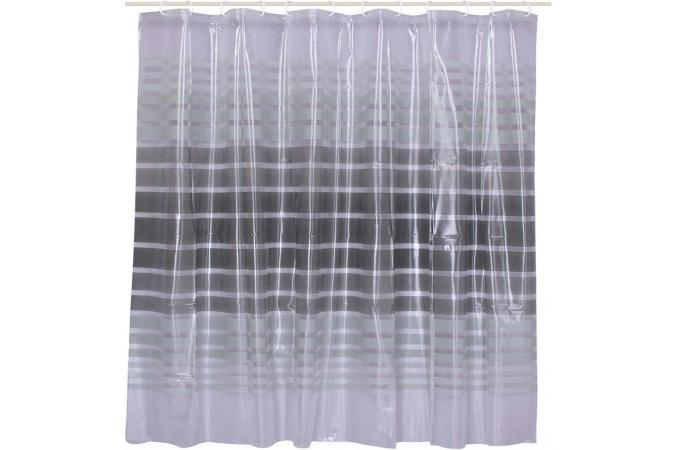 rideau salle de bain pvc 180 x 180 cm rideaux pas cher. Black Bedroom Furniture Sets. Home Design Ideas