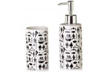 Set De Toilette Distributeur Et Verre Bathroom - Distributeur savon design