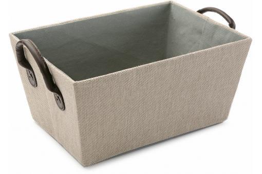 Caisse beige avec des anses deco design - Caisse de rangement pas cher ...