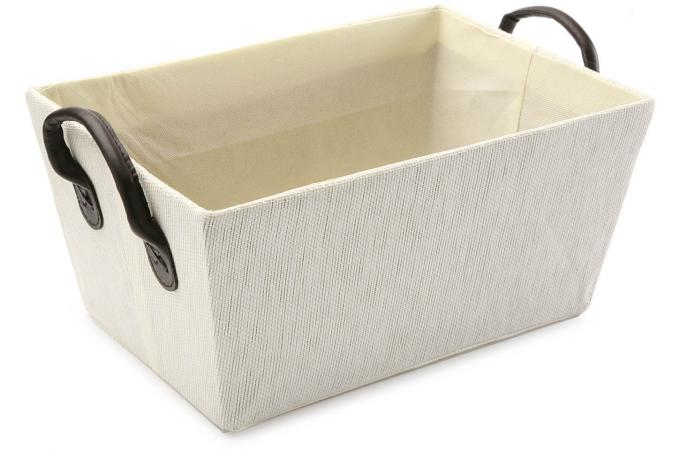 Caisse blanche avec des anses bo te de rangement pas cher - Caisse de rangement pas cher ...