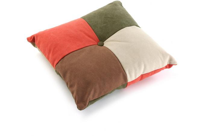 coussin carr en patchwork coussin pas cher. Black Bedroom Furniture Sets. Home Design Ideas