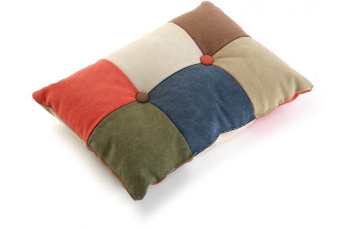 coussin rectangulaire en patchwork coussin pas cher. Black Bedroom Furniture Sets. Home Design Ideas