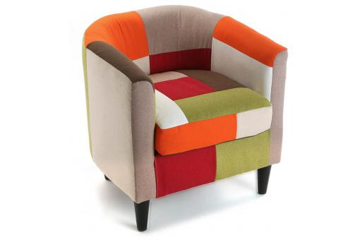 Fauteuil Multicolore Red Patchwork