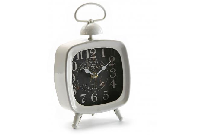 Horloge de table blanche horloge design pas cher for Horloge blanche design