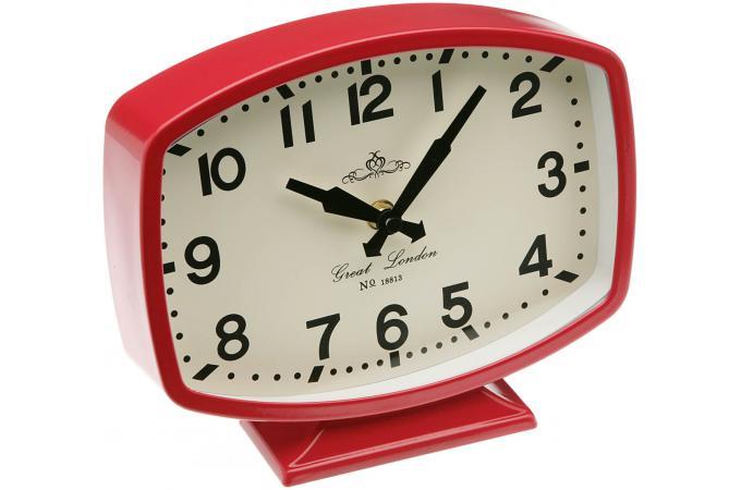 horloge de table rouge horloge design pas cher. Black Bedroom Furniture Sets. Home Design Ideas