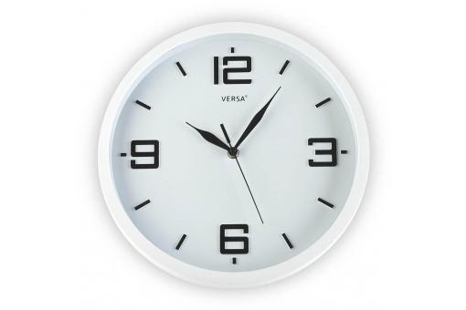 horloge mural blanche 30cm horloge design pas cher. Black Bedroom Furniture Sets. Home Design Ideas