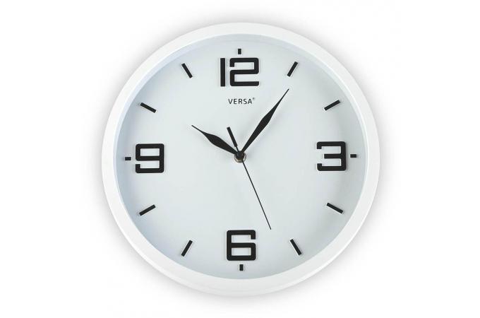 Horloge mural blanche 30cm horloge design pas cher for Horloge blanche design