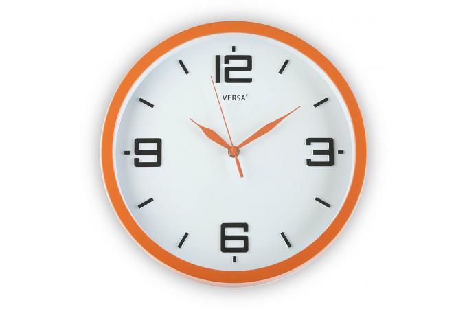 horloge mural orange 30cm horloge design pas cher. Black Bedroom Furniture Sets. Home Design Ideas