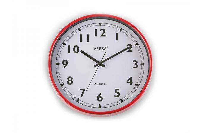 horloge murale rouge horloge design pas cher. Black Bedroom Furniture Sets. Home Design Ideas