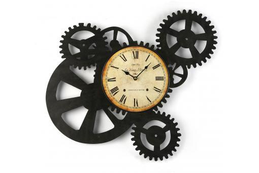 Horloge murale engrenage 51 x 54 cm horloge design pas cher - Horloge murale geante pas cher ...