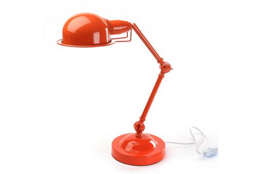 Lampe de bureau orange H.45 cm