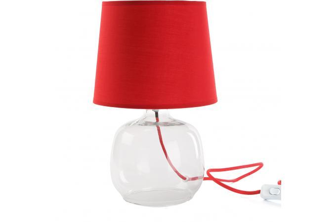 lampe boule en verre rouge cm meubles en ligne. Black Bedroom Furniture Sets. Home Design Ideas