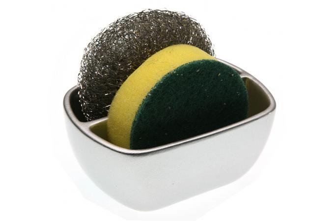 Rangement pour ponge argent accessoires cuisine sali re gant pas cher - Accessoires de rangement pour cuisine ...