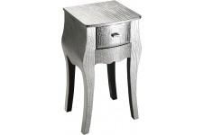 Table d'Appoint Table auxiliaire argentée Menphys, deco design