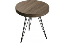 Table d'Appoint Table auxiliaire marron en bois Vigoth, deco design