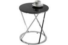 Table d'Appoint Table auxiliaire noire en verre Tamtam, deco design