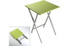 Table d'Appoint Table pliante verte plaqué bois Bourgignon, deco design