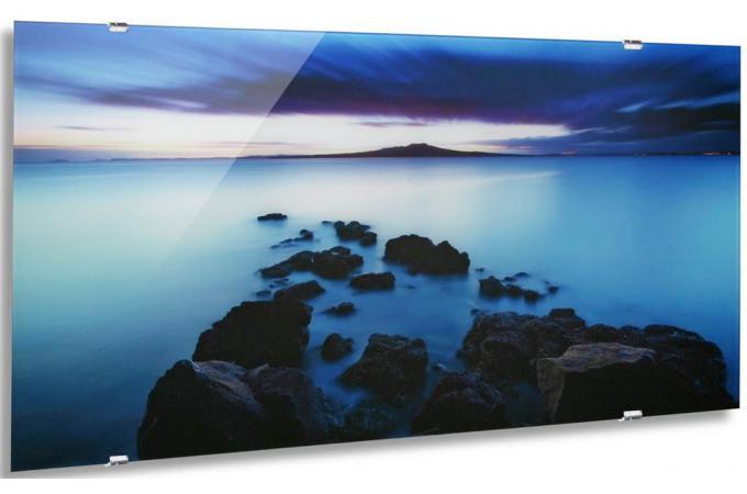 tableau de paysage bleu avec support tableau zen pas cher. Black Bedroom Furniture Sets. Home Design Ideas