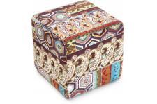 Tabouret cube Patchwork - Collection deco patchwork