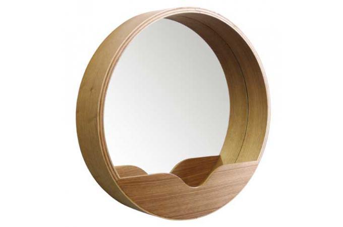 Miroir rond avec rangement 60 x 8 cm miroir rond et for Miroir 60 x 90