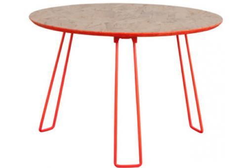 Table d 39 appoint zuiver pi tement m tal orange fluo 60x40 cm table d 39 appoint pas cher for Meuble 60x40